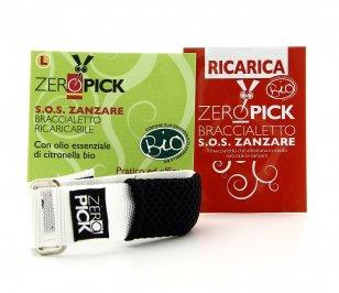Zeropick - Braccialetto Antizanzare Bianco - Taglia L