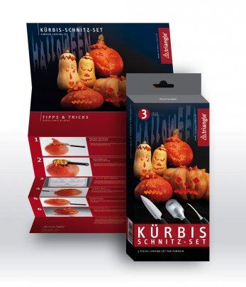 Set Coltelli per Zucca Inox Coltelli per creare zucche di Halloween  3 coltell