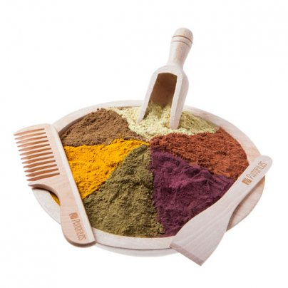 Kit 4 Legni - Ciotola in legni di Eucalipto Per l'applicazione della tintura naturale per capelli