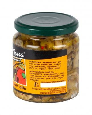 Melanzane Sott'Olio Contorno a base di verdure biologiche con peperoncino