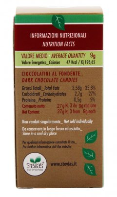 3 Cioccolatini Fontente con Stevia