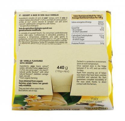 Bio Dessert Soia alla Vaniglia - 4x110 g