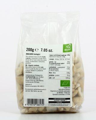 Anacardi Biologici Sgusciati 200 gr