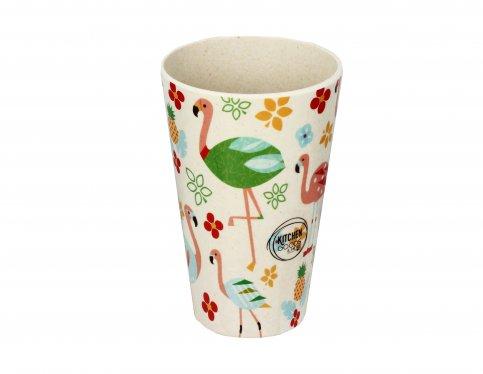 Caraffa Ecologica con 4 Bicchieri - Flamingo