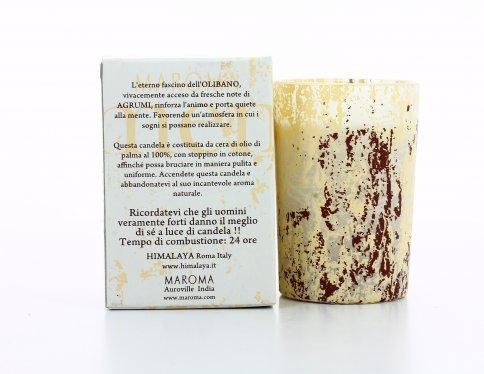 Candela Aromatica Olibano e Agrumi