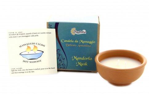 Candela da Massaggio Fiore Bianco di Muschio e Mandorlo