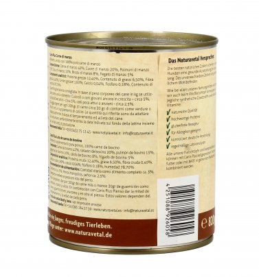 Canis Plus Menu Completo - Manzo 820 gr