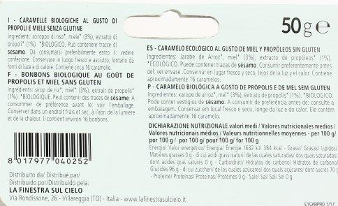 Caramelle Bio Propoli e Miele - Senza Glutine