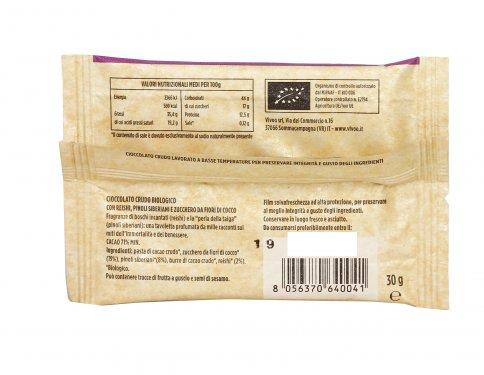Cioccolato Crudo Biologico 71% Cacao