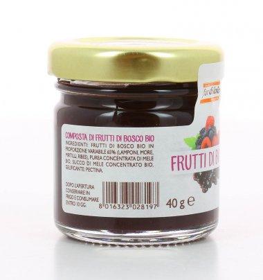 Mini Composta di Frutti di Bosco Bio 40 gr