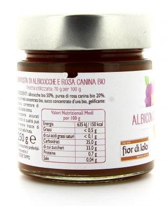Composta Albicocca e Rosa Canina Bio
