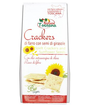Cracker di Farro con Semi di Girasole