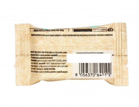 Barretta con Spirulina e Cioccolato Crudo - Energy Fruit Bite