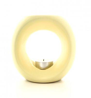 Lampada per Aromi a Candela ad Anello - Colore Beige