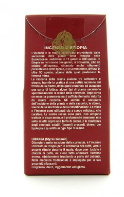 Incenso d'Etiopia in Grani - Lubanja 70 g.