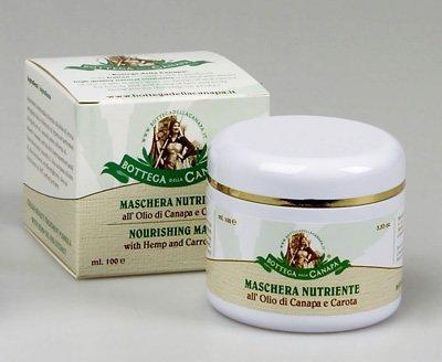 Maschera Nutriente all'Olio di Canapa e Carota
