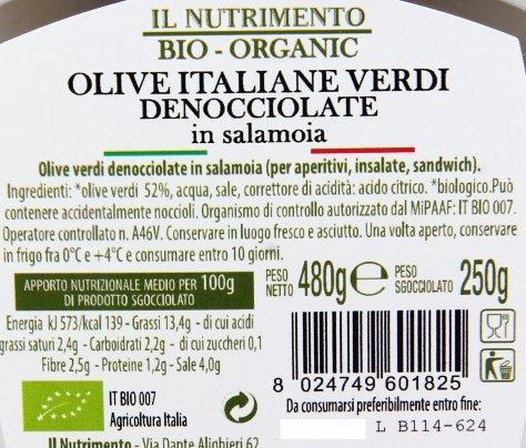 Olive Italiane Verdi Denocciolate