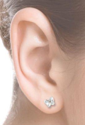 Orecchini a Farfalla Crystal 5 mm - Crystal