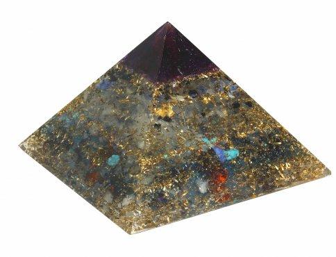 Piramide in Orgonite e Shungite  - Blue Sky Nature 15 cm