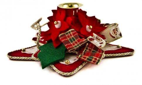 Portacandele Stella di Natale Lato