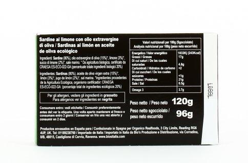 Sardine al Limone Bio - Pesca Sostenibile