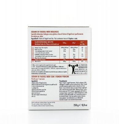 Sedani di Fagioli Neri Bio - Senza Glutine
