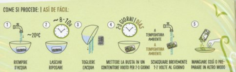 Germogli in Bustina Bio Mix 1 - Cereali, Legumi e Semi