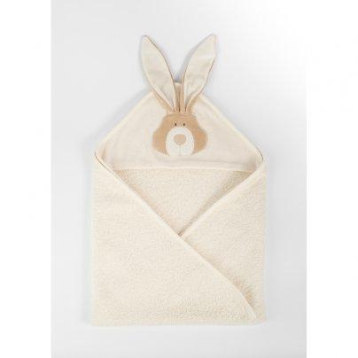 Telo da Bagno Cotone Organico con Cappuccio - Bunny