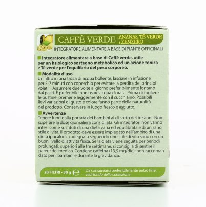 Tisana - Caffè Verde all'Ananas, Tè Verde e Zenzero