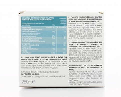 Crackers di Avena Bio con Carote e Semi di Zucca - Verdure Cakes