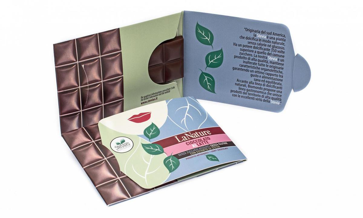 Cioccolato al Latte con Stevia -- Conf. Cartone