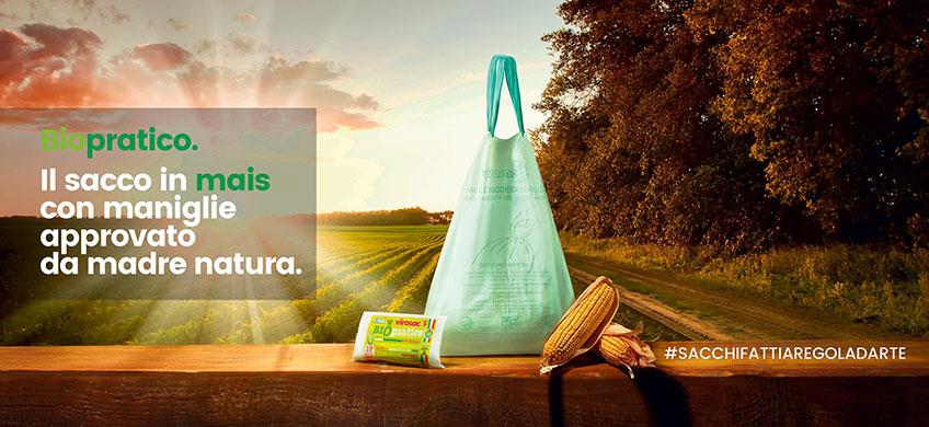 Sacchi Biodegradabili con Maniglie - BioPratico