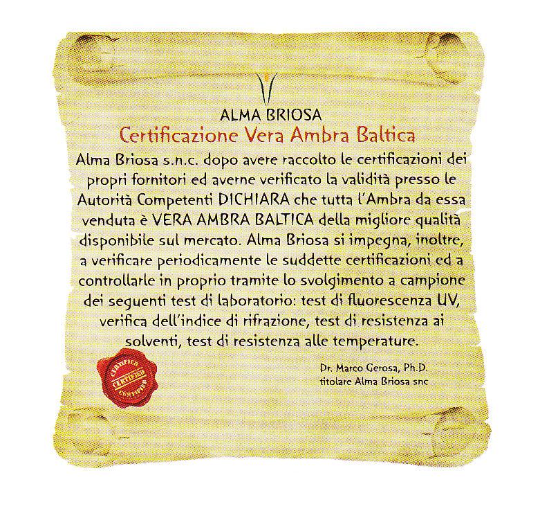 Collana Ambra - Mamma - Rounded Cognac