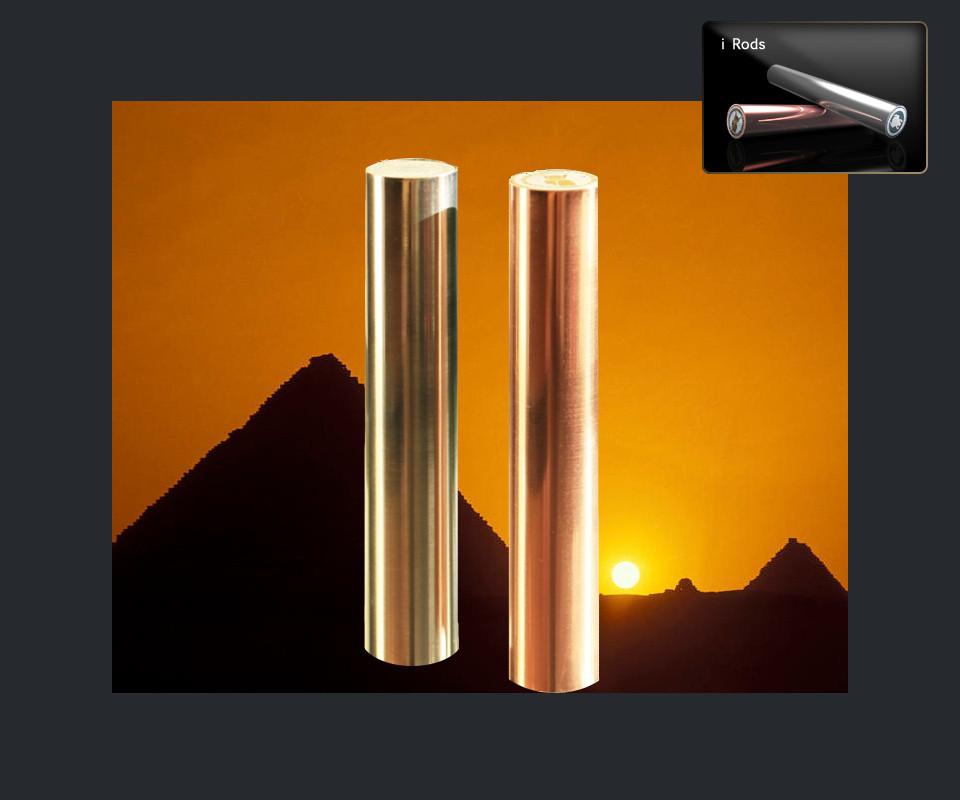 Coppia di Cilindri Egiziani - Serie Quartz - Power 2