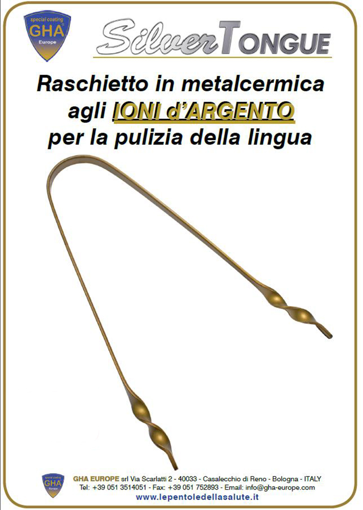 Raschietto Pulizia Lingua - Silver Tongue