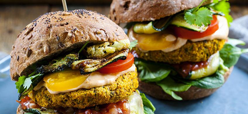 Veg Burger con Canapa e Semi Misti