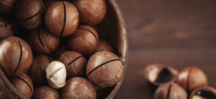Le noci di macadamia sono così ricche di componenti bioattivi  da poter essere un integratore naturale.