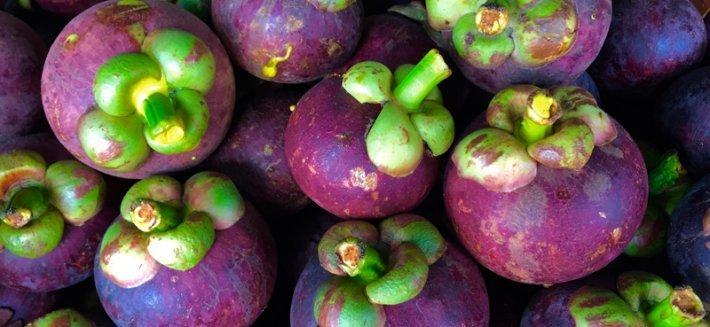 Il mangostano, un frutto tropicale dalle tante proprietà antiossidanti.
