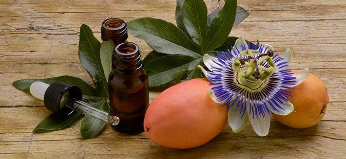 La passiflora è la splendida pianta dai fiori bianco, viola e porpora da cui si coglie il frutto della passione.