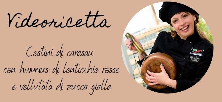 video ricetta carasau hummus zucca