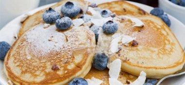 Ricetta Pancake di Farro con Purea di Mele e Banane